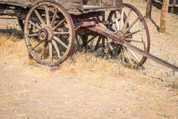 Abstract of Vintage Antique Wood Wagons and Wheels. Stock photo © feverpitch