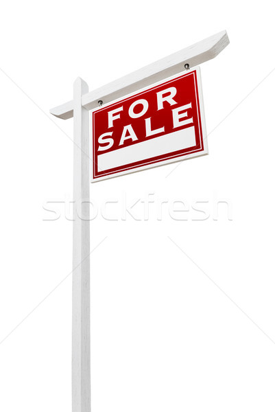 право продажи недвижимости знак изолированный Сток-фото © feverpitch