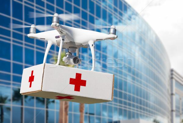 самолета первый первая помощь пакет корпоративного Сток-фото © feverpitch