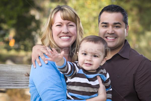 Сток-фото: счастливым · этнических · семьи · позируют · портрет