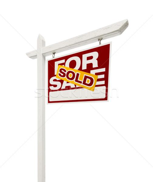 проданный продажи недвижимости знак право Сток-фото © feverpitch