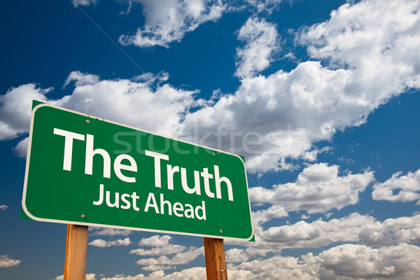 The Truth Green Road Sign Stock photo © feverpitch