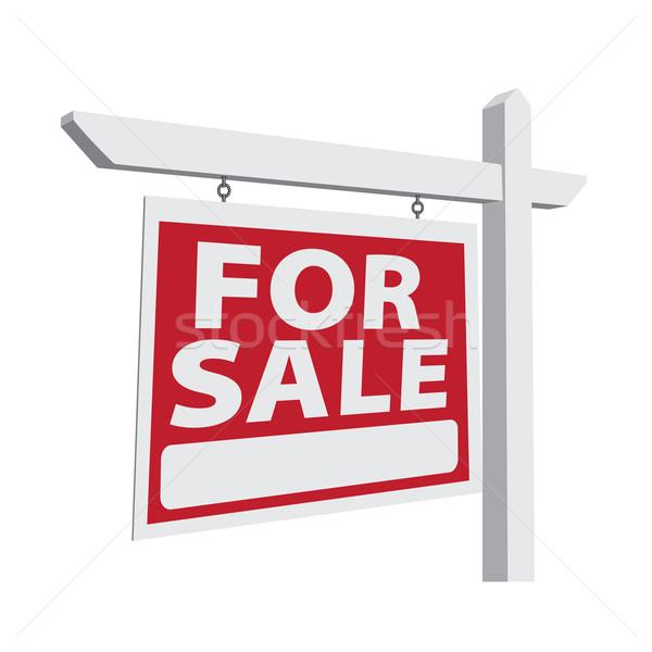 Sprzedaży wektora nieruchomości podpisania gotowy własny Zdjęcia stock © feverpitch
