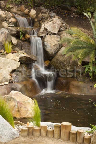 Japans zen tuin stream mooie vertragen Stockfoto © feverpitch