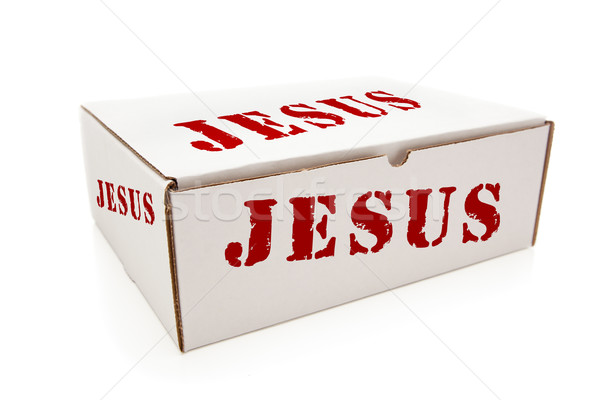 White Box with Jesus on Sides Isolated Stock photo © feverpitch