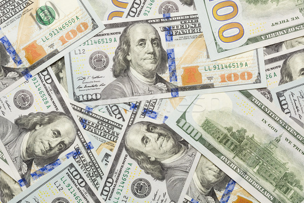 Random Angled Layer of the New One Hundred Dollar Bill Stock photo © feverpitch