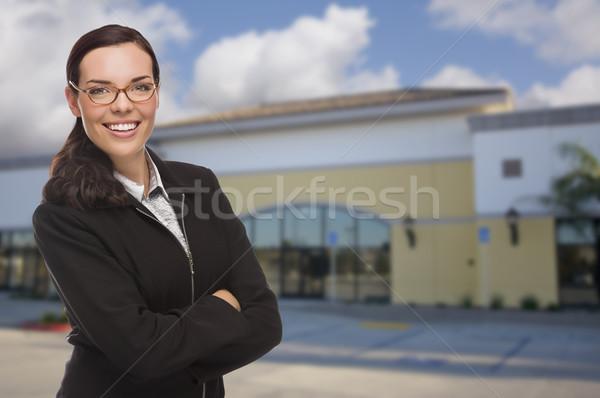 Vrouw aantrekkelijk ernstig halfbloed vacant Stockfoto © feverpitch