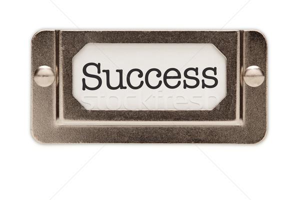 Zdjęcia stock: Sukces · pliku · szuflada · etykiety · odizolowany · biały