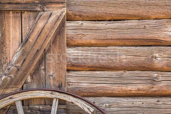 Resumen vintage antiguos cabina pared Foto stock © feverpitch