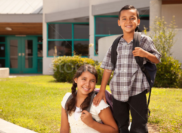 Cute Hispanic Brother and Sister Ready for School Stock photo © feverpitch