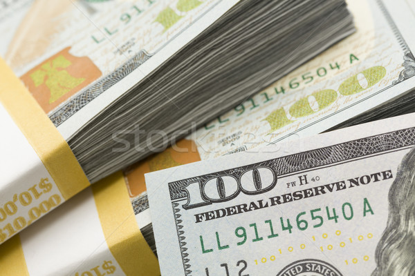 Abstract Detail of Newly Designed United States One Hundred Doll Stock photo © feverpitch