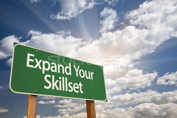 Expand Your Skillset Green Road Sign Stock photo © feverpitch