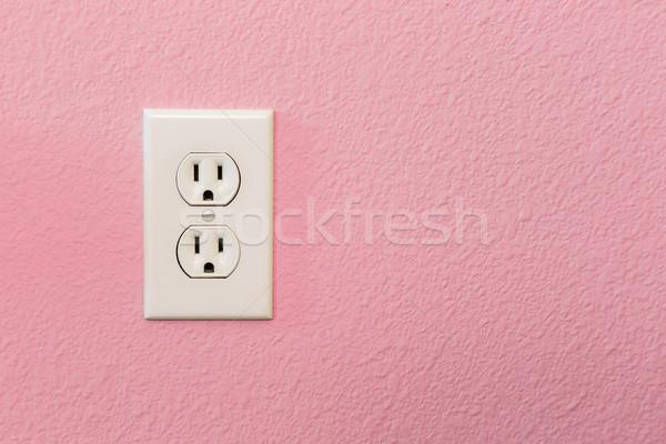 Elettriche colorato rosa muro casa home Foto d'archivio © feverpitch