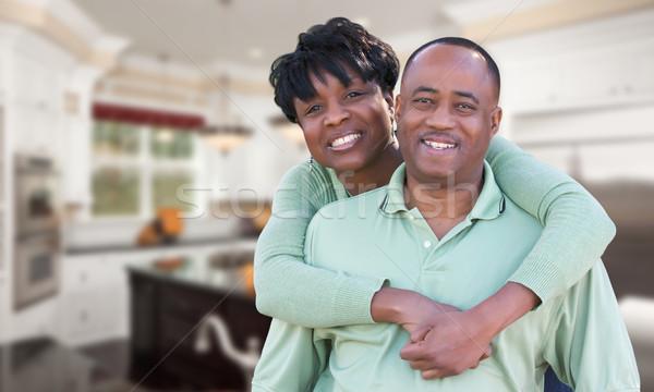 Heureux couple à l'intérieur belle coutume Photo stock © feverpitch
