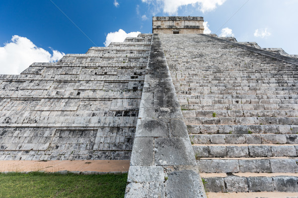 Mayan El Castillo Pyramid at the Archaeological Site in Chichen  Stock photo © feverpitch