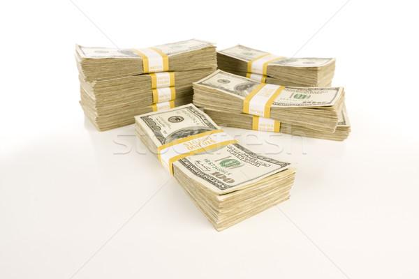 Stacks of One Hundred Dollar Bills on Gradation Stock photo © feverpitch