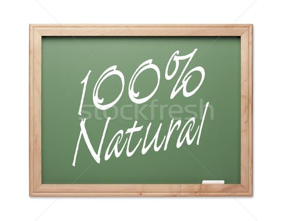 Foto stock: 100 · por · cento · naturalismo · verde · giz · conselho