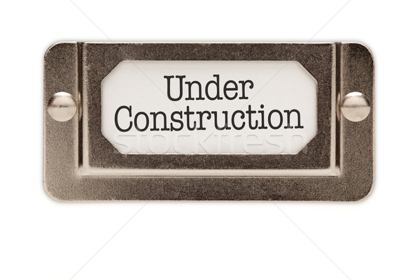 Under Construction File Drawer Label Stock photo © feverpitch