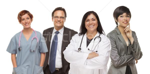 Grupo médicos gente de negocios blanco pequeño grupo aislado Foto stock © feverpitch