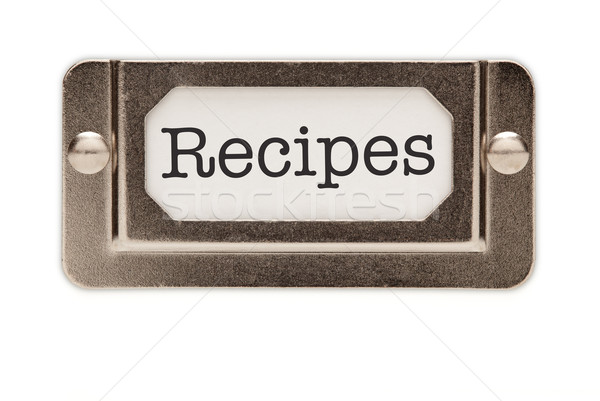 Recipes File Drawer Label Stock photo © feverpitch