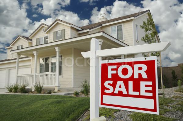 Ev satış imzalamak ev güzel yeni ev Stok fotoğraf © feverpitch