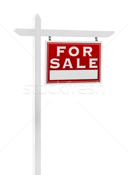Helyes szemben vásár ingatlan felirat izolált Stock fotó © feverpitch