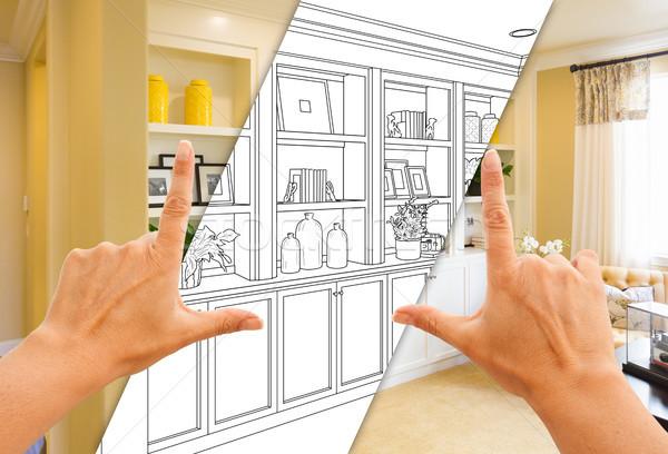 手 カスタム 棚 デザイン 図面 セクション ストックフォト © feverpitch