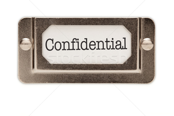 Confidential File Drawer Label Stock photo © feverpitch