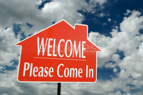 Welcome, Please Come In Sign Stock photo © feverpitch