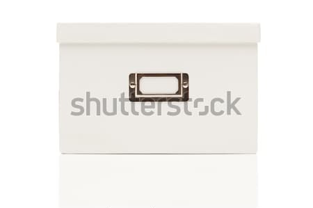Blank White File Box with Lid on White Stock photo © feverpitch