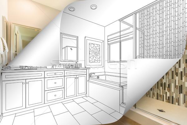 Mestre banheiro desenho página foto Foto stock © feverpitch