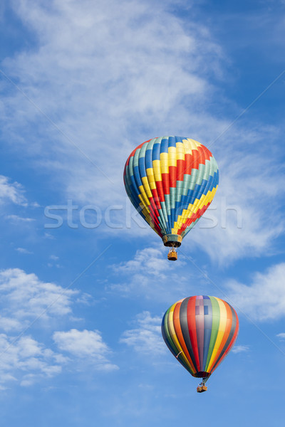 Beautiful Hot Air Balloons Against a Deep Blue Sky Stock photo © feverpitch