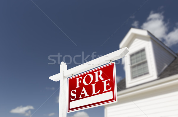 Home For Sale Real Estate Sign in Front of House Stock photo © feverpitch