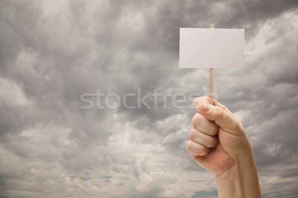 Foto stock: Homem · dramático · tempestade