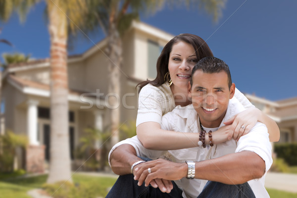 Heureux hispanique nouvelle maison jeunes couple Photo stock © feverpitch