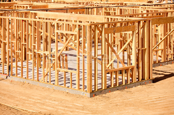 New Home Construction Framing Stock photo © feverpitch