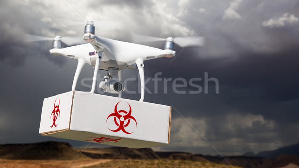 航空機 パッケージ バイオハザード シンボル ラベル ストックフォト © feverpitch