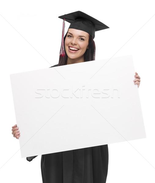 Feminino pós-graduação boné vestido Foto stock © feverpitch