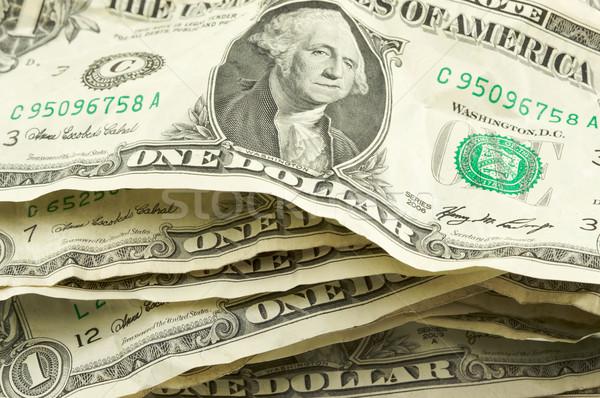 Pile of Crumpled Dollar Bills Stock photo © feverpitch
