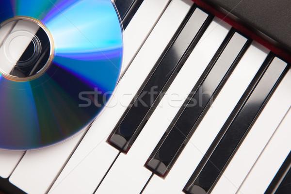 Cd piano abstrato música tecnologia Foto stock © feverpitch