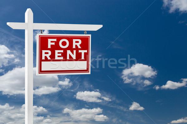 Affitto immobiliari segno cielo blu Foto d'archivio © feverpitch