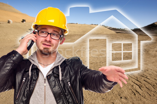 Contractor at a Construction Site and Dirt Lot Stock photo © feverpitch