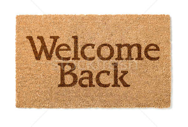 Welcome Back House Mat On White Stock photo © feverpitch