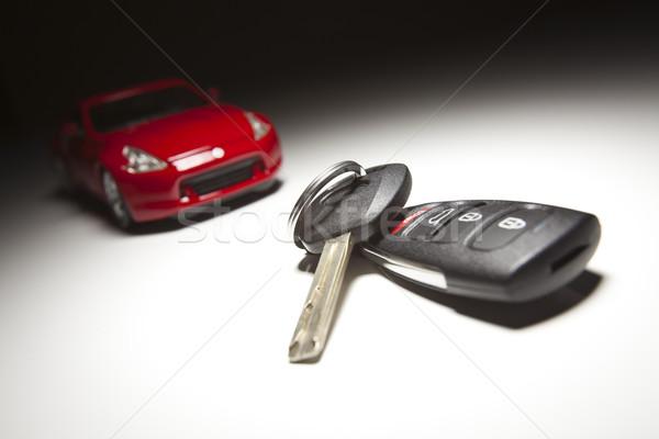 Foto stock: Chaves · do · carro · local · luz · tecnologia · segurança