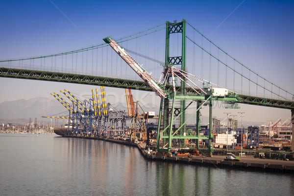 San Pedro Ship Yard and Bridge Stock photo © feverpitch