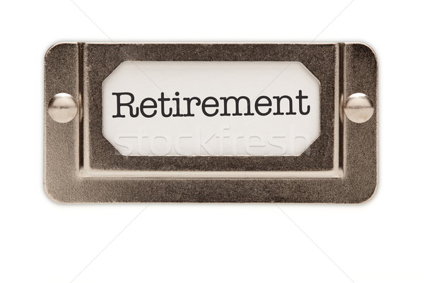 Retirement File Drawer Label Stock photo © feverpitch