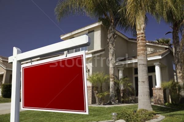 Imóveis assinar casa céu casa porta Foto stock © feverpitch