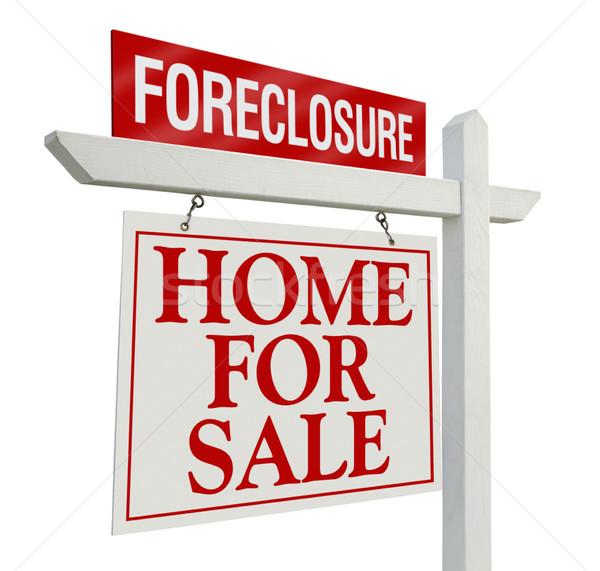Cebri icra ev satış gayrimenkul imzalamak yalıtılmış Stok fotoğraf © feverpitch