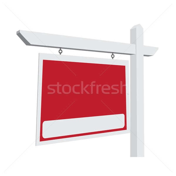 Blank Red Vector Real Estate Sign Stock photo © feverpitch