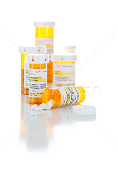 Non-Proprietary Medicine Prescription Bottles and Spilled Pills  Stock photo © feverpitch
